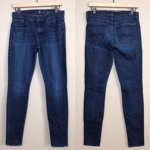 7 For All Mankind Gwenevere Skinny Denim Jeans 28